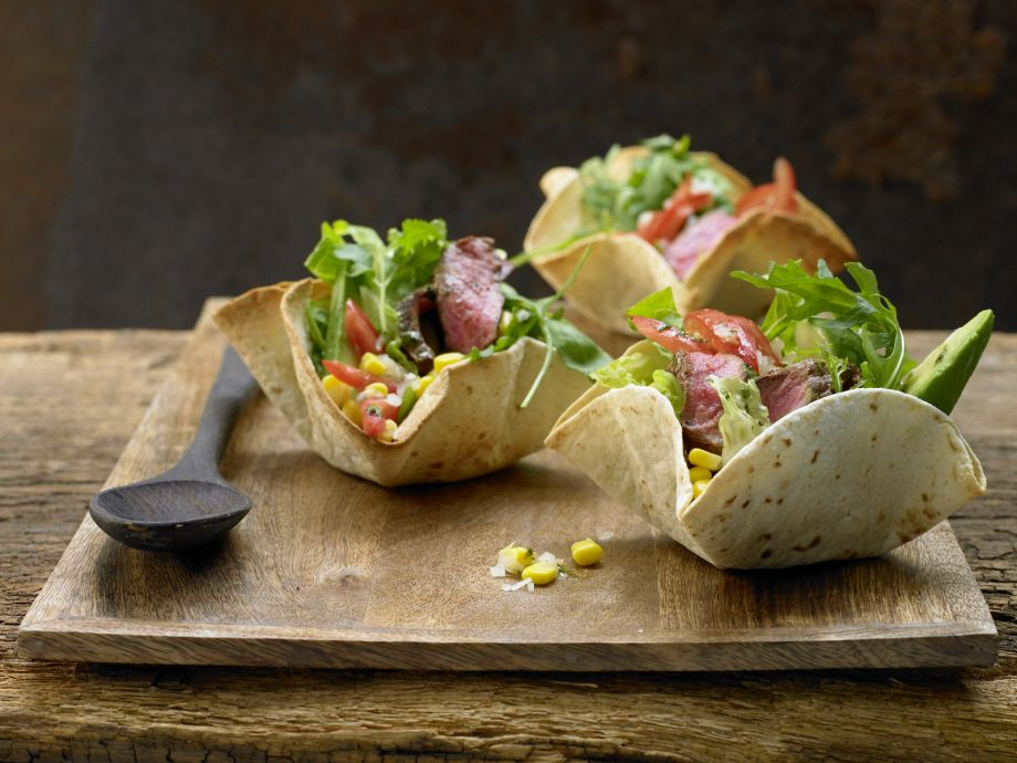 Mexican Salad - Mexican Salad - Delicious, vitamin-rich, and served In an edible crunchy shell