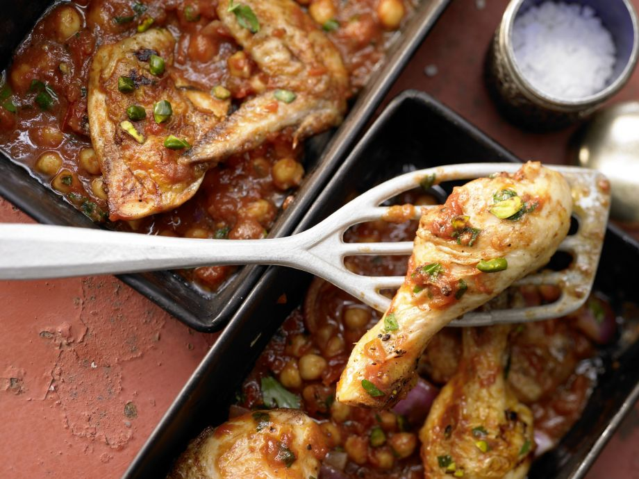 Middle Eastern Baked Chicken - Middle Eastern Baked Chicken - The braised chicken dish exudes the scent of fine spices