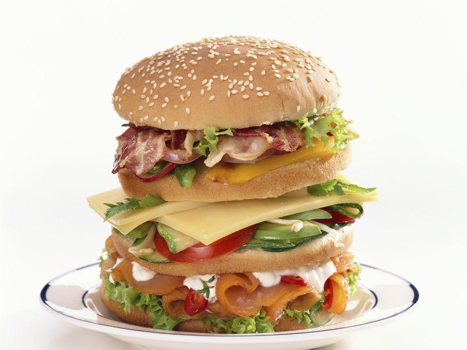 Mile-High Somked Salmon Sandwich