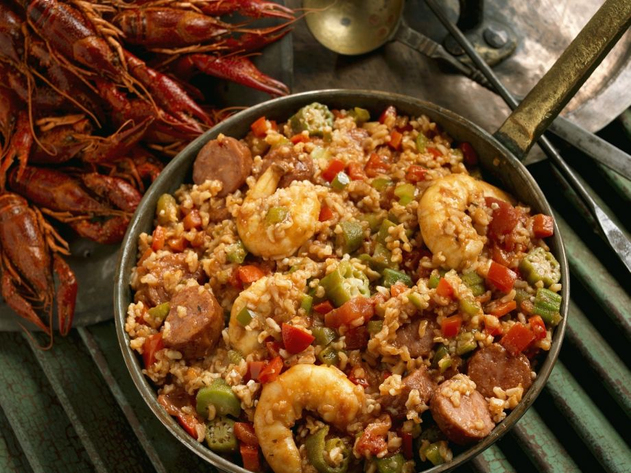 New Orleans seafood and spicy sausage stew