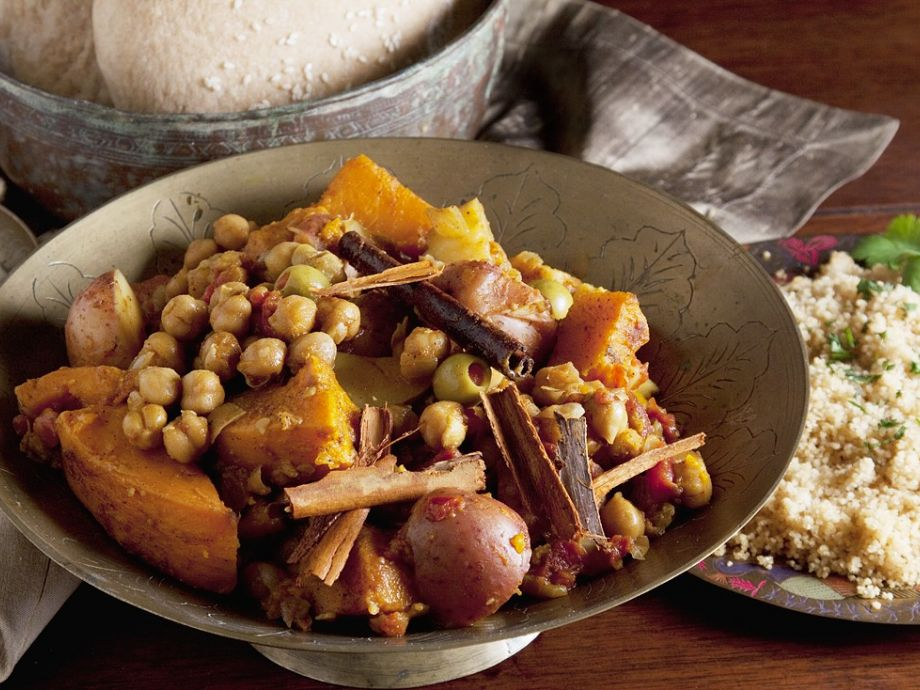 North African stew with beans and pumpkin