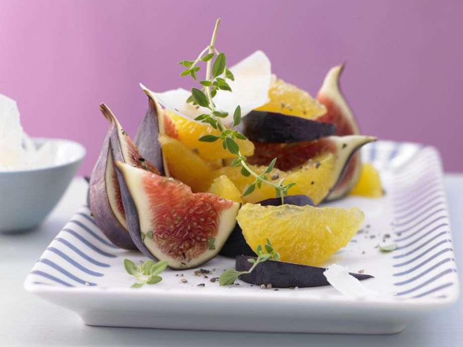 Orange and Fig Salad - Orange and Fig Salad - A fruity interaction, complemented by Spanish sheep cheese