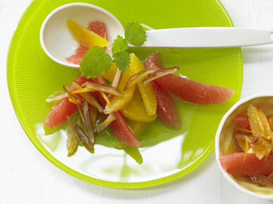 Orange and Grapefruit Salad - Orange and Grapefruit Salad - Tart citrus and sweet dried fruit in perfect harmony