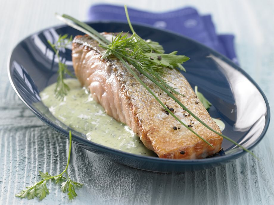 Pan-Seared Salmon Fillet - Pan-Seared Salmon Fillet - Not just a feast for the eyes!
