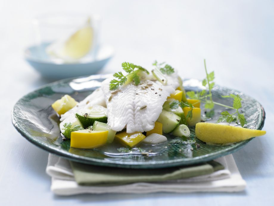 Perch Filet on Zucchini - Perch Filet on Zucchini - The best of freshwater fish on fresh vegetables