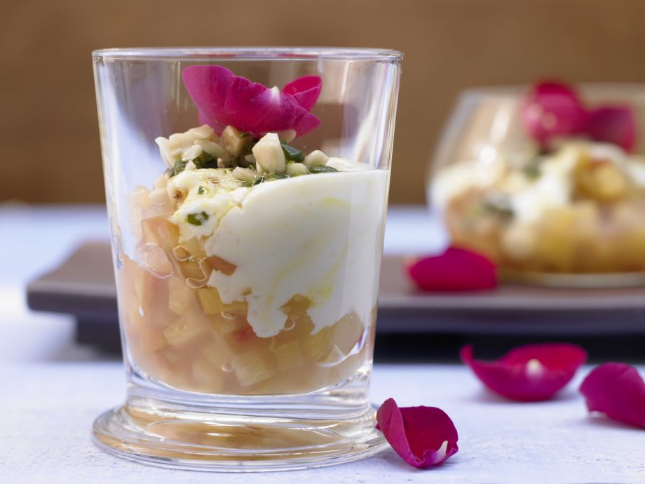Pineapple Compote - Pineapple Compote - Rose water and pineapple—an exotic dessert dream of 1001 nights