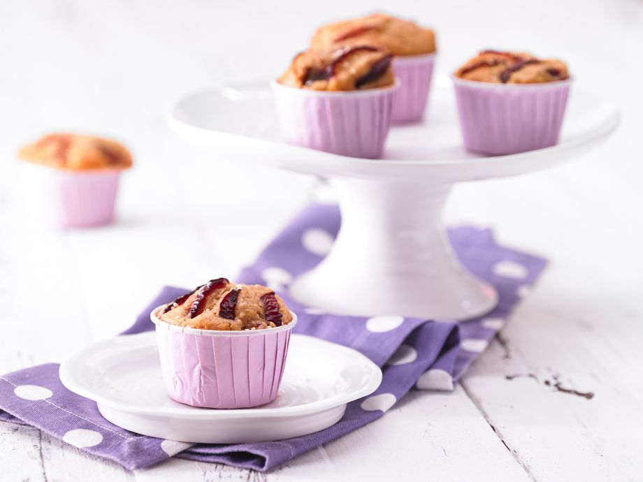 Plum Muffins - Plum Muffins - Moist muffins with small fruit pieces mixed throughout!