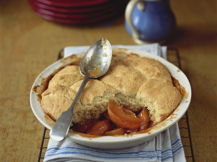 Quince and port cobbler