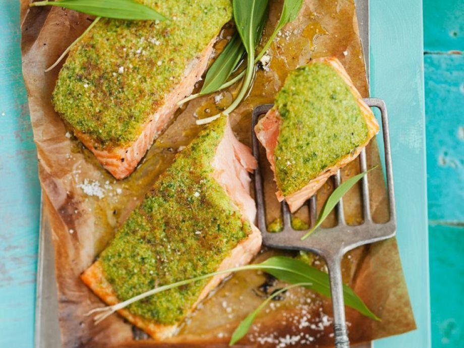 Ransom-crusted salmon