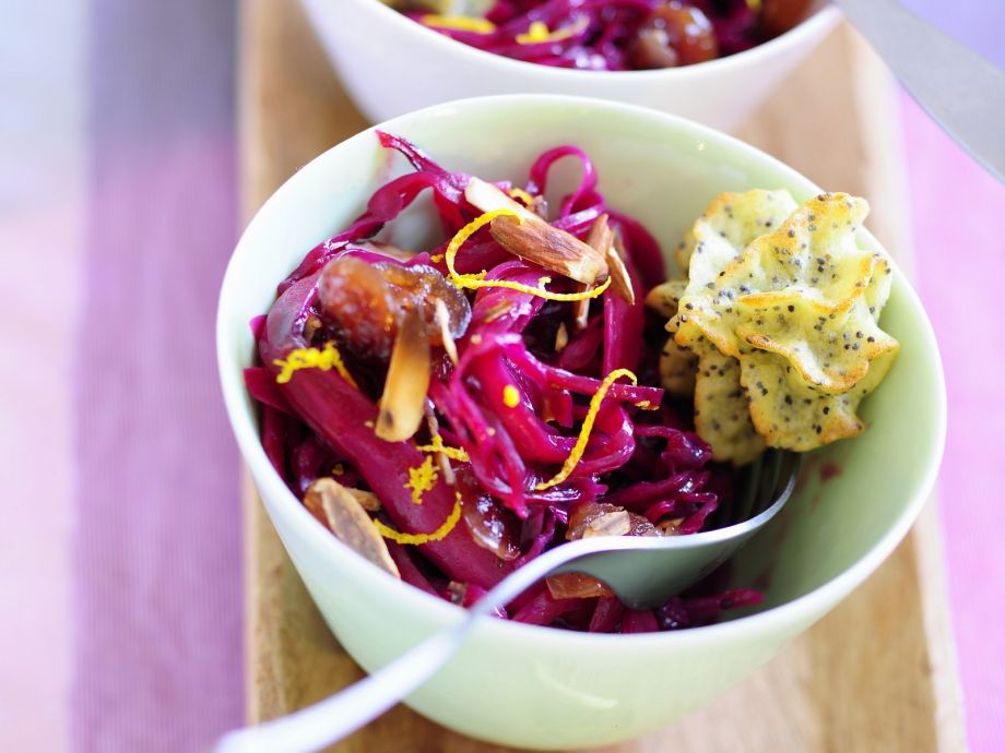 Red Cabbage Salad with Orange Dressing