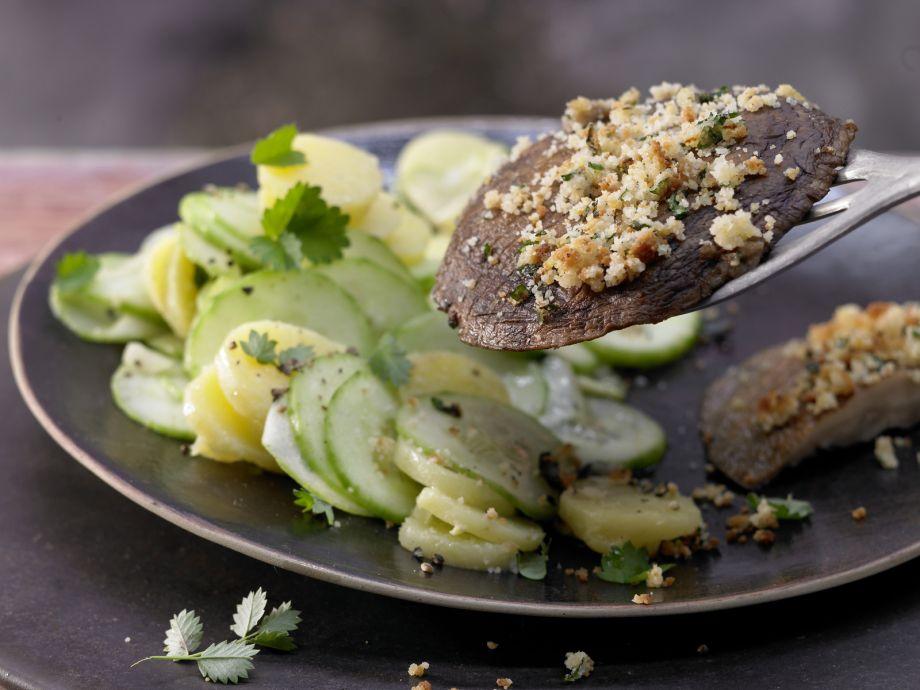 Roasted Portobello Mushrooms - Roasted Portobello Mushrooms - A delicious vegan alternative to Wiener Schnitzel