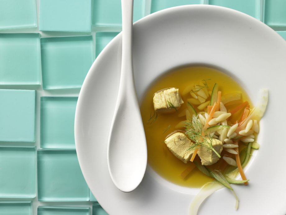 Saffron Chicken Noodle Soup - An exotic take on a classic comfort food