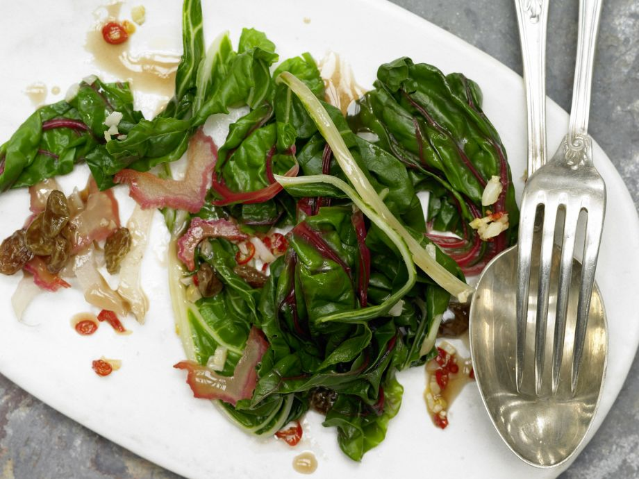 Savory Braised Chard - Savory Braised Chard - This sweet and spicy vegetable dish is ideal with steak or fish