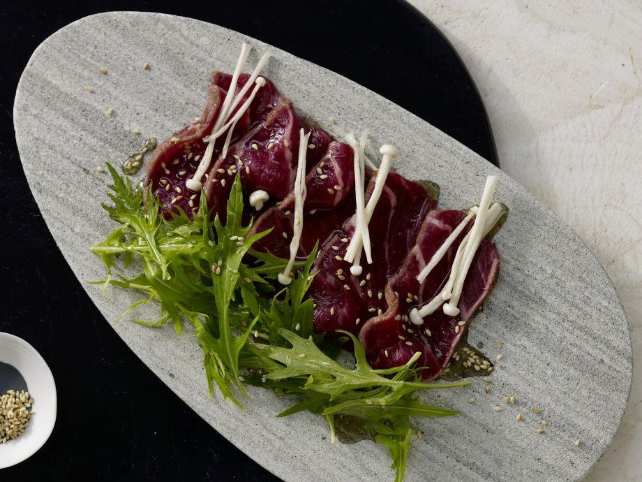 Seared Beef Carpaccio - Seared Beef Carpaccio - Carpaccio, Japanese-style