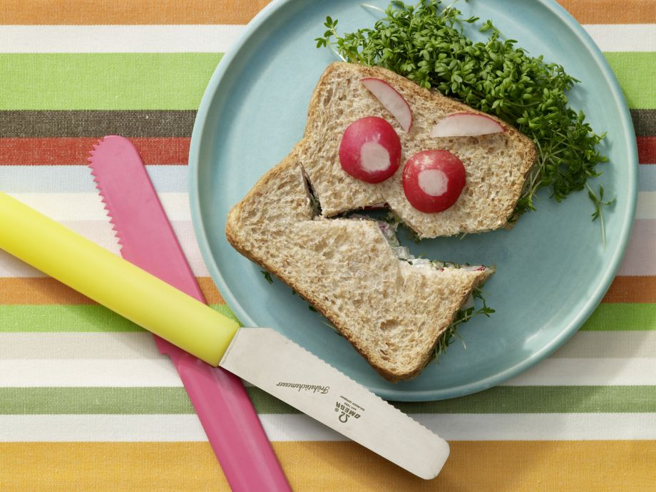 Silly-Face Sandwich - Silly-Face Sandwich - The light, whimsical sandwich will delight a child's heart