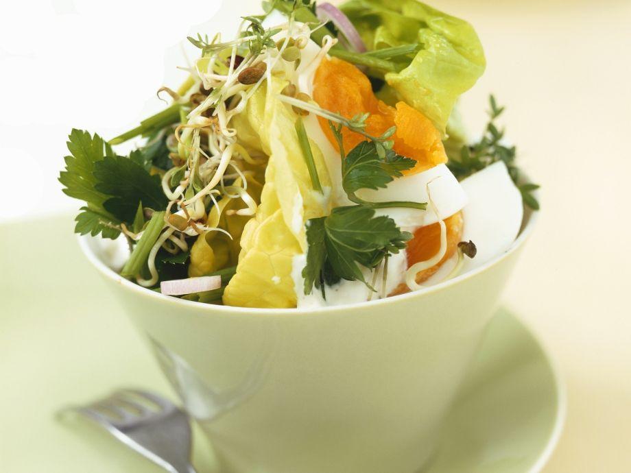 Sliced Egg and Herb Salad