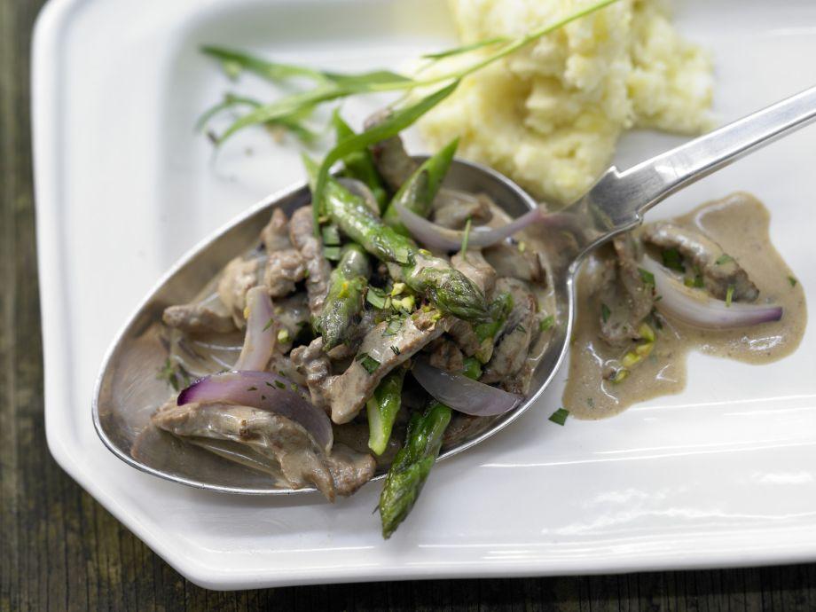 Smarter Beef Sauté - Smarter Beef Sauté - A healthy, fresh dish featuring green asparagus