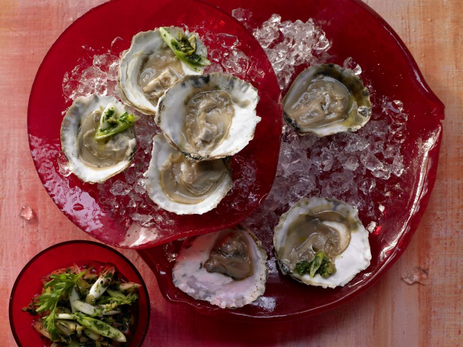 Smarter Oysters with Parsley Salsa Verde - Smarter Oysters with Parsley Salsa Verde - The spicy herb sauce makes a tasty alternative to traditional options
