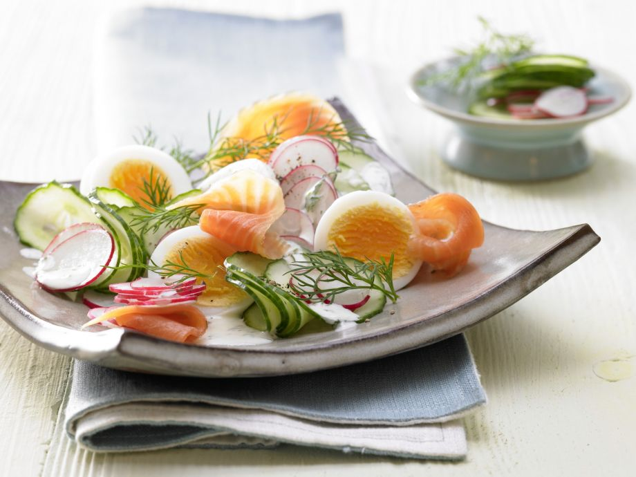 Smoked Salmon and Cucumber Salad - Smoked Salmon and Cucumber Salad - Guest pampering at its finest, and done in no time!