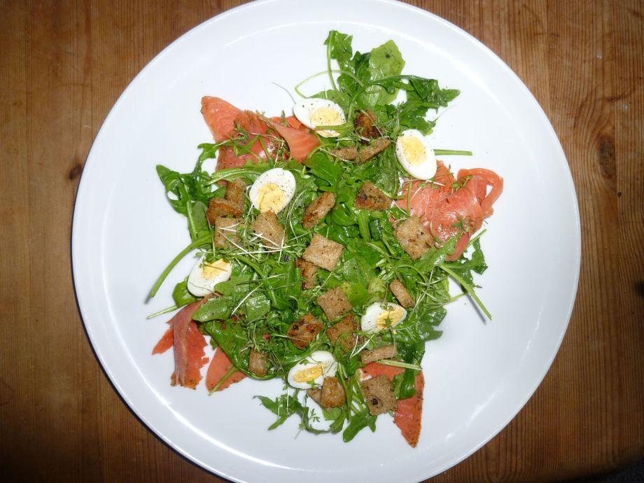 Smoked Salmon and Quail Egg Salad