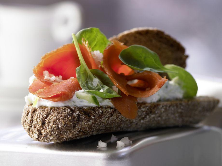 Smoked Salmon on Whole Wheat - Smoked Salmon on Whole Wheat - A twist on smoked fish on savory bread