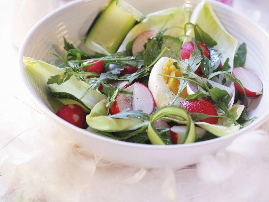 Soft Egg and Breakfast Radish Salad Bowl