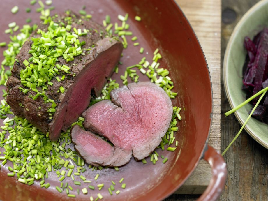 Spice-Crusted Beef with Chives - Spice-Crusted Beef with Chives - Buttery delicacy - slow roasted over low heat