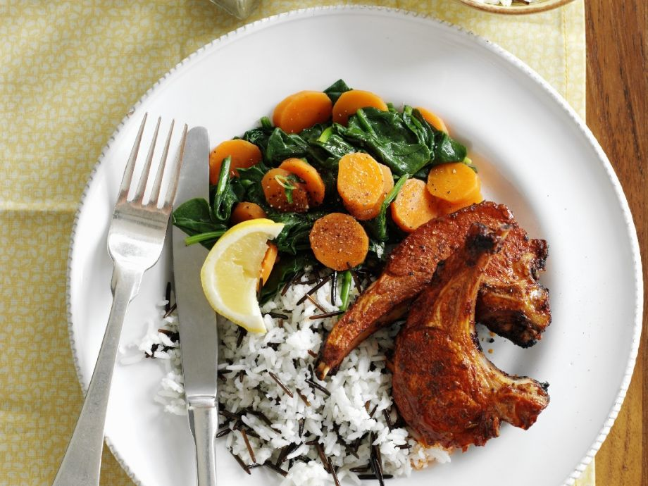 Spiced Lamb with Rice and Spinach
