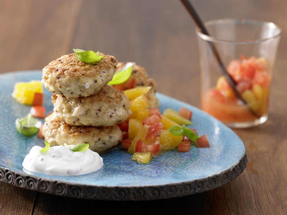 Spicy Fish Cakes - Spicy Fish Cakes - Two flavor pairings for patties from the sea—fruity and creamy