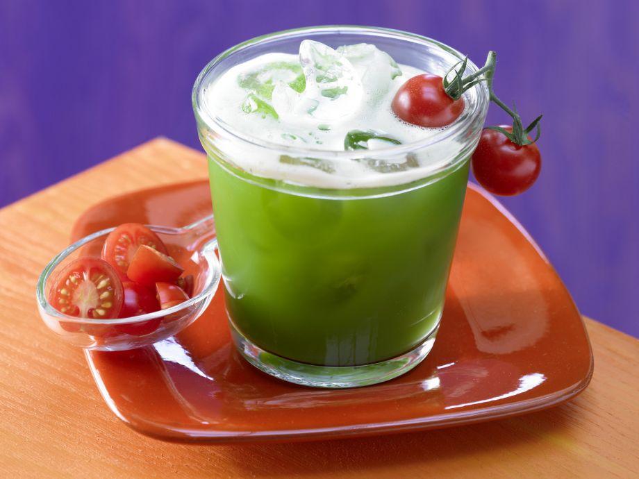 Spicy Garden Vegetable Cocktail - Spicy Garden Vegetable Cocktail - This spicy, non-alcoholic cocktail is chock full of fresh vegetables
