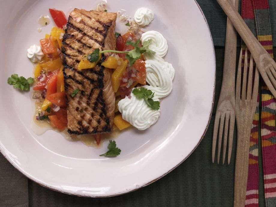 Spicy Salmon Fillet - Spicy Salmon Fillet - This sassy salmon delivers with a spicy Mexican spin!