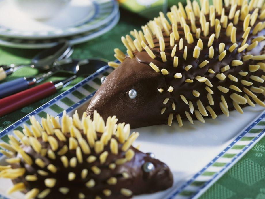 Spiky animal chocolates
