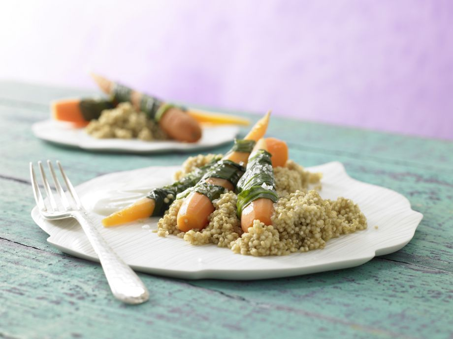 Steamed Carrots and Wild Garlic - Steamed Carrots and Wild Garlic - Light and incredibly tasty vegetarian dish