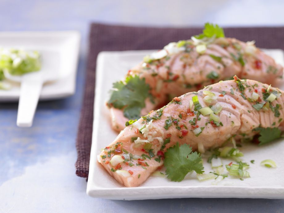 Steamed Salmon Fillet - Steamed Salmon Fillet - Simple sophistication, Asian style