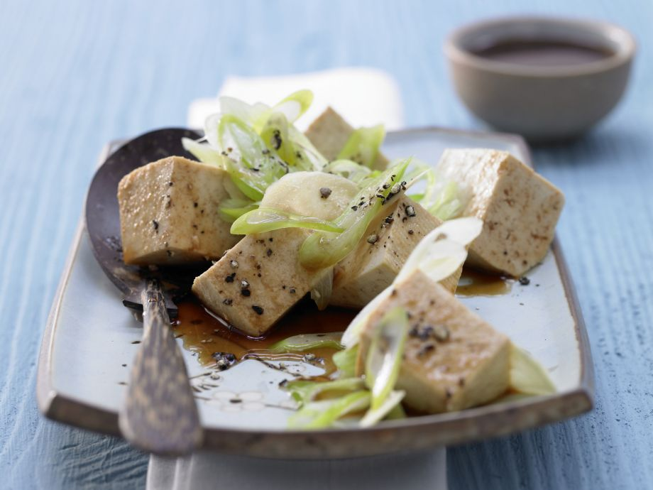 Steamed Silken Tofu - Steamed Silken Tofu - Silken, aromatic, marinated tofu: Japanese cuisine that melts in the mouth