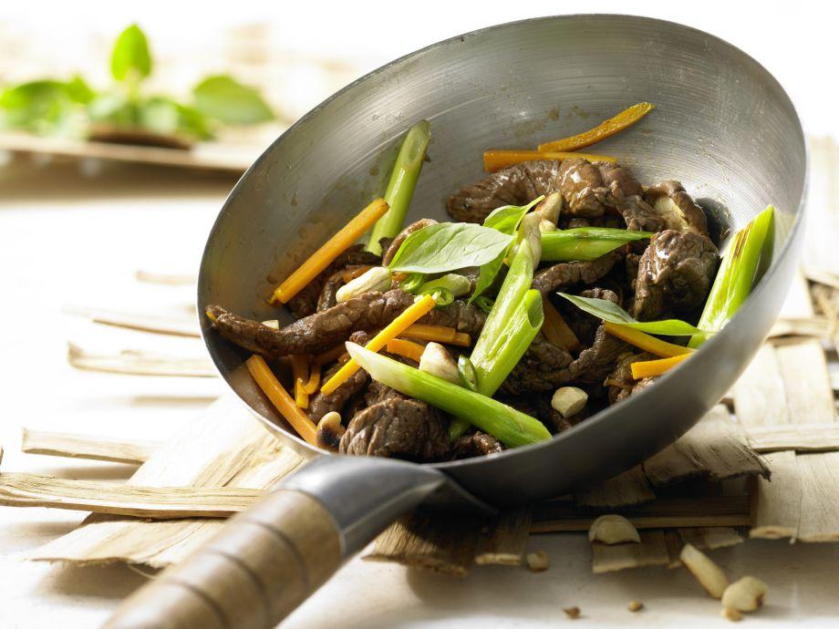 Stir-Fried Beef and Shiitake Mushrooms - Stir-Fried Beef and Shiitake Mushrooms - A light and satisfying Asian entrée