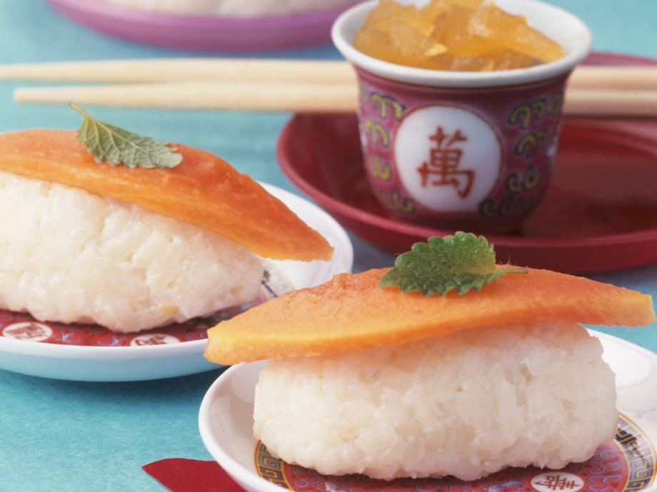 Sweet Coconut Sushi Rice with Fruit Recipe | EatSmarter