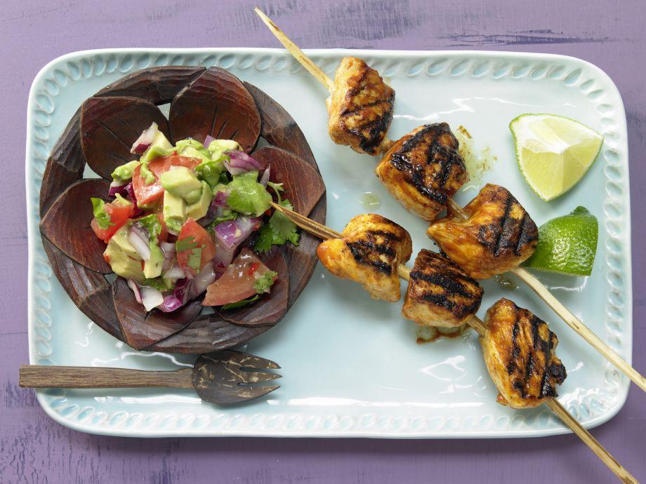 Tamarind Chicken Skewers - Tamarind Chicken Skewers - Tart and savory Caribbean chicken skewers