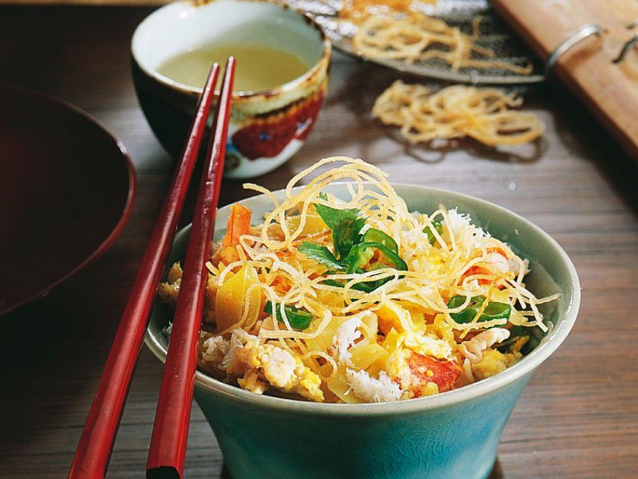 Thai noodles with chicken