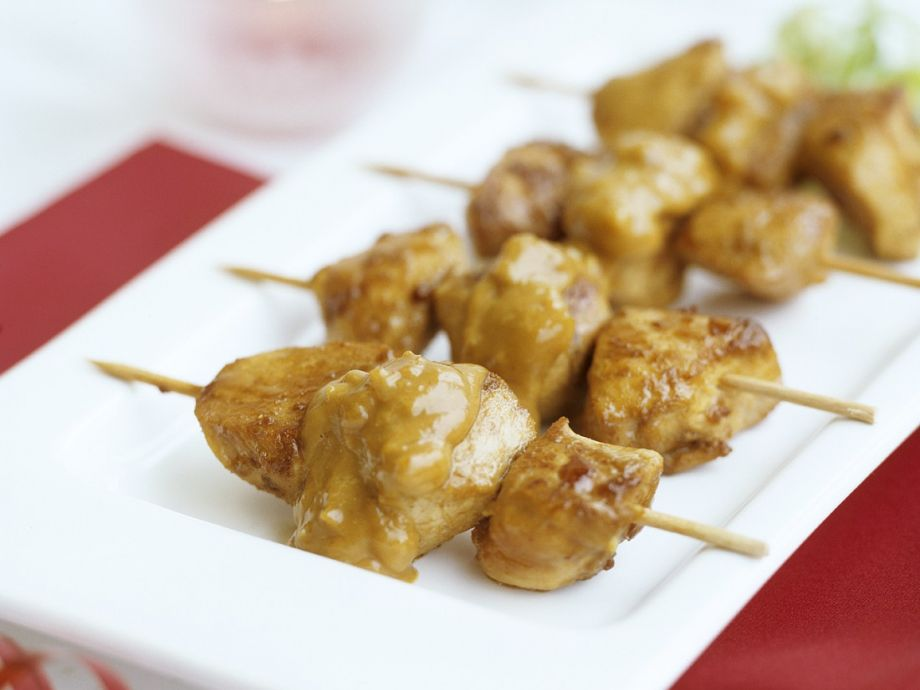 Thai-style chicken skewers