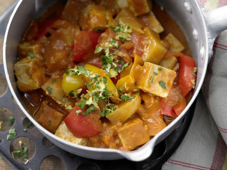 Tofu Goulash - Tofu Goulash - Hungarian casserole done completely vegan, with a strong note of smoked tofu