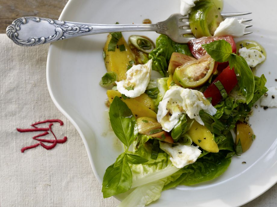 Tomato and Mango Salad - Tomato and Mango Salad - This is a fruity version of the Italian classic, Caprese