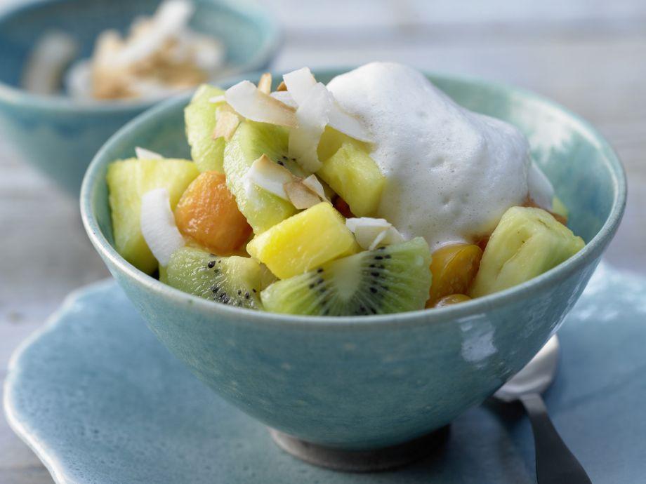 Tropical Fruit Salad - Tropical Fruit Salad - Wonderful fruity dessert creation with an exotic kick