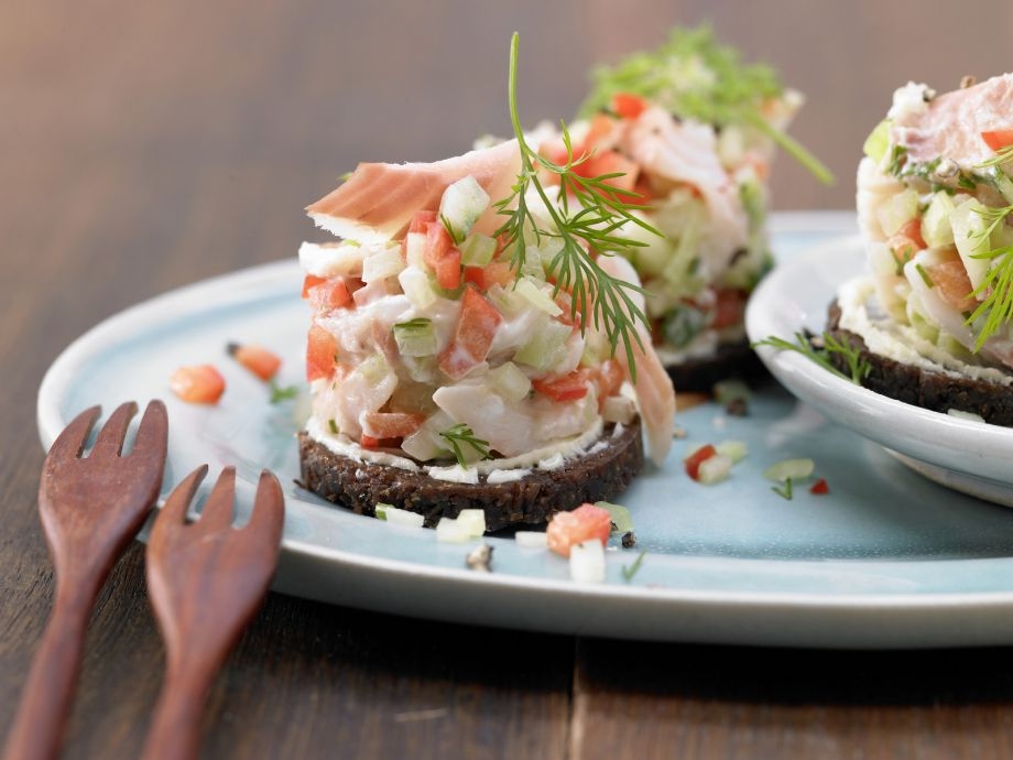 Trout Tartare - Trout Tartare - Finger food with fish—just a little someting to nibble on