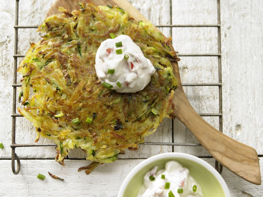 Vegetable Rosti - Vegetable Rosti - Delicious and on the table in less than 30 minutes!