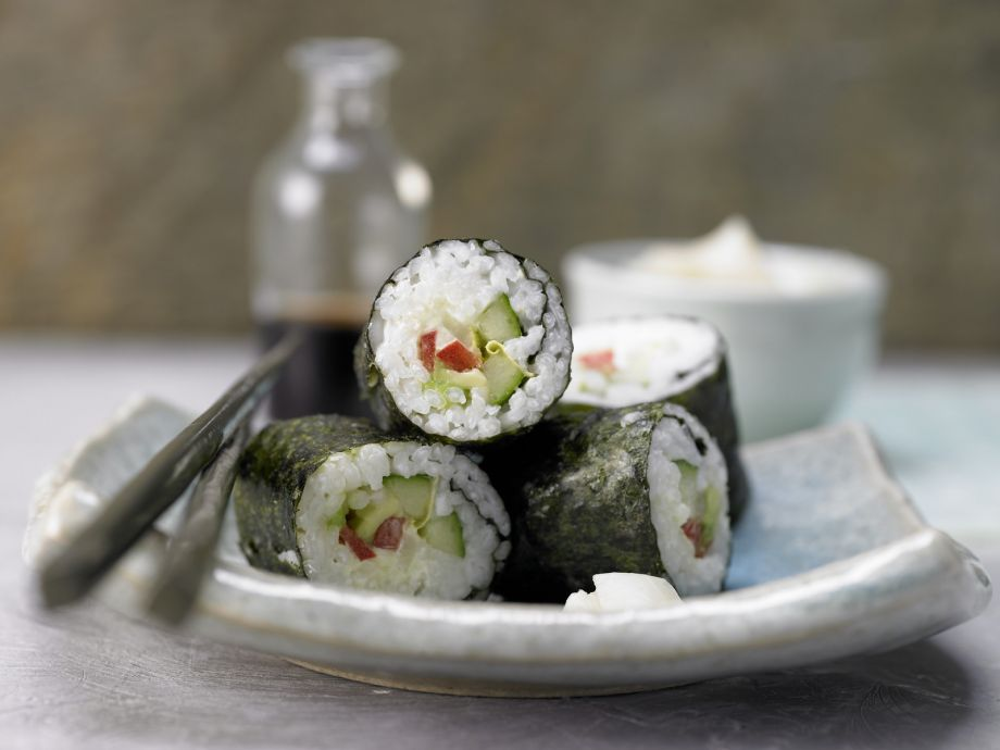 Vegetable Sushi - Vegetable Sushi - A mouth-watering vegetarian delight