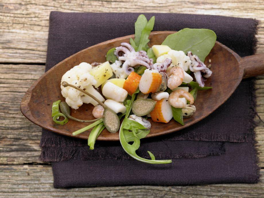 Warm Seafood Salad - Warm Seafood Salad - A beautiful and enjoyable salad