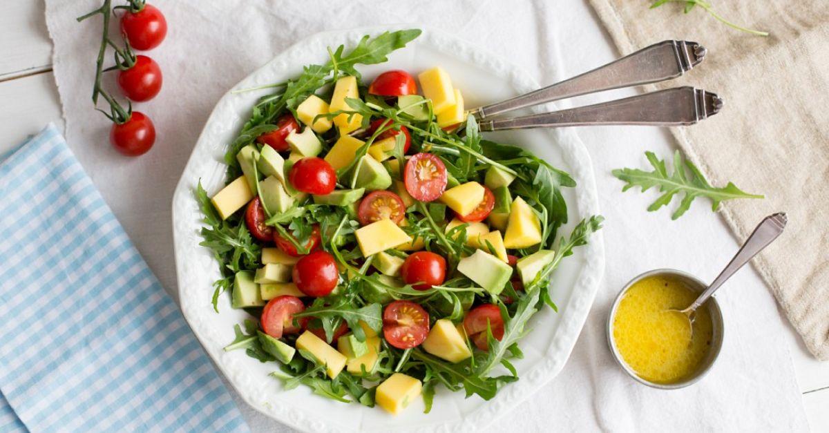 Arugula Salad With Mango Avocado And Cherry Tomatoes Recipe Eat
