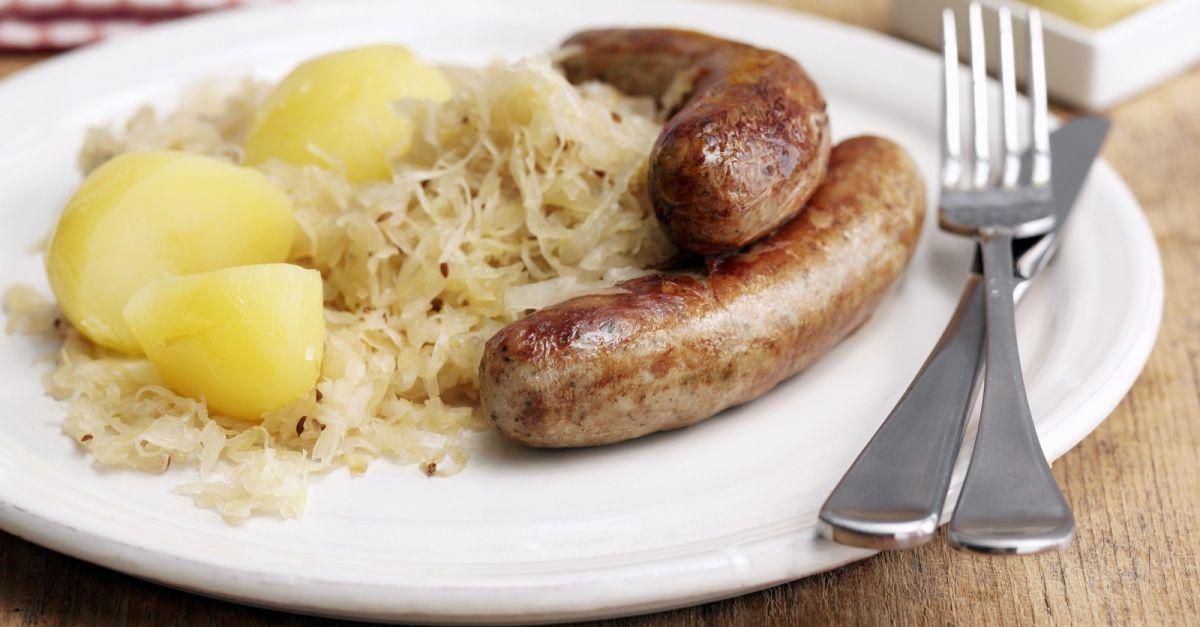 Bratwurst With Sauerkraut And Potatoes Recipe Eat