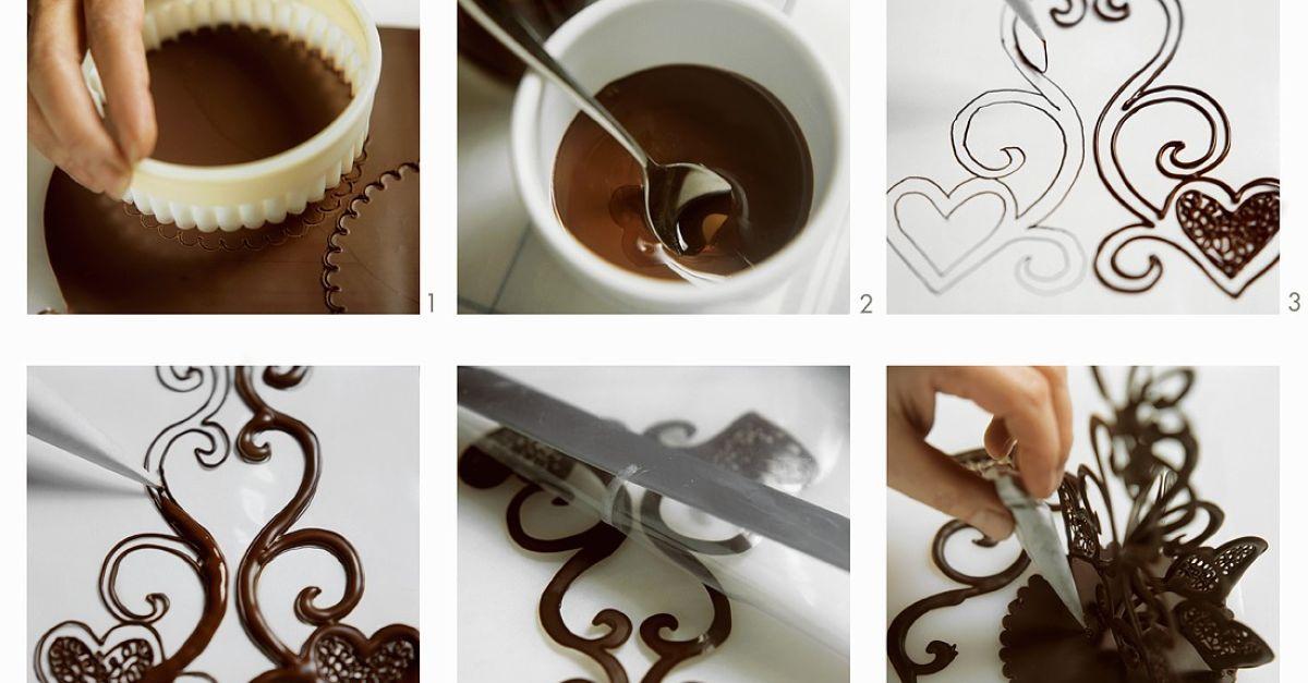 Украшение из шоколада в домашних условиях фото 652
